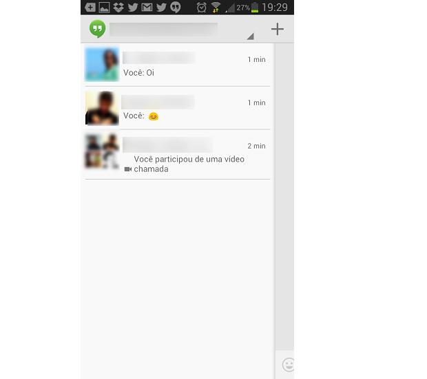 Interface das mensagens é semelhante ao visual do WhatsApp (Foto: Reprodução/Thiago Barros)