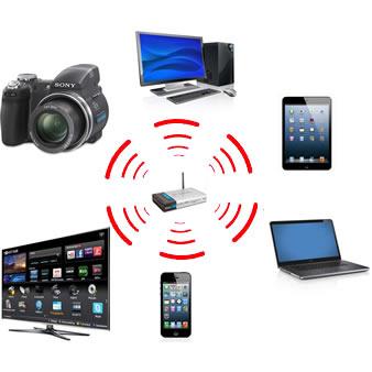 Os roteadores wireless podem compartilhar a conexão com diversos aparelhos (Foto: Daniel Ribeiro) (Foto: Os roteadores wireless podem compartilhar a conexão com diversos aparelhos (Foto: Daniel Ribeiro))