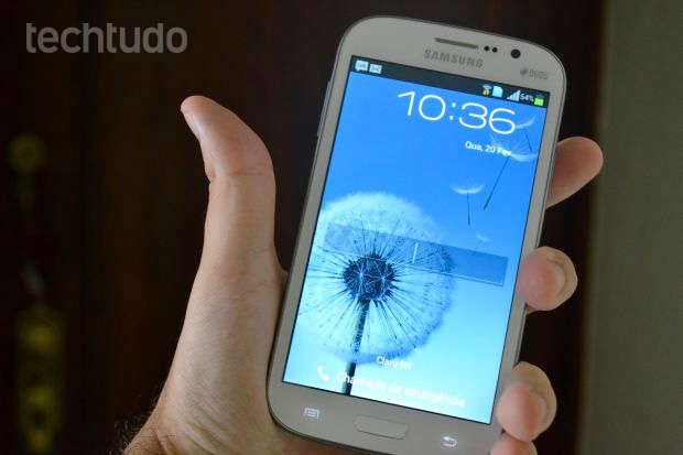 Galaxy Gran Duos tem tela de 5 polegadas e é dual chip (Foto: Pedro Zambarda/TechTudo)