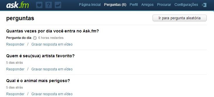 Resultado de imagem para ask.com.br perguntas perfil famosos