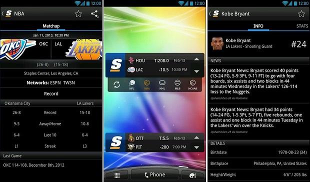 Acompanhe partidas de diversos campeonatos no app (Foto: Divulgação)