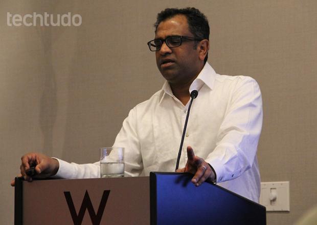 Vice-presidente de produtos da Qualcomm, Raj Talluri (Foto: Fabrício Vitorino / TechTudo)