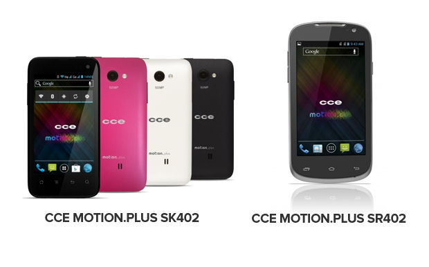 CCE Motion.Plus SK402 e SR402 possui configurações semelhantes, mas são diferentes no desing (Foto: Arte/Divulgação)
