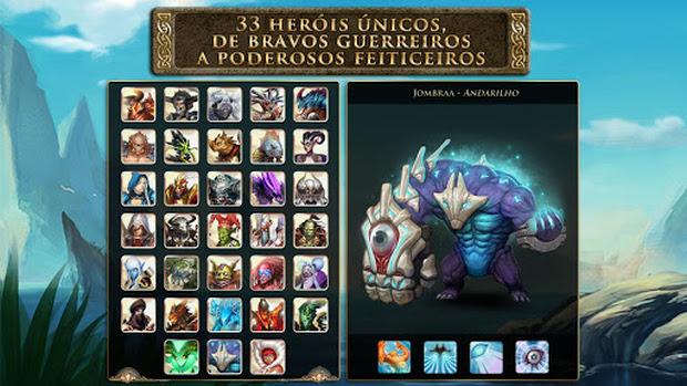 Novos heróis e arena de 5 vs 5 em Heroes of Order & Chaos para Android (Foto: Divulgação)