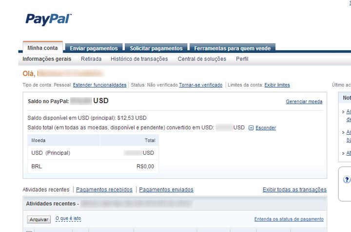 Criar conta paypal portugal