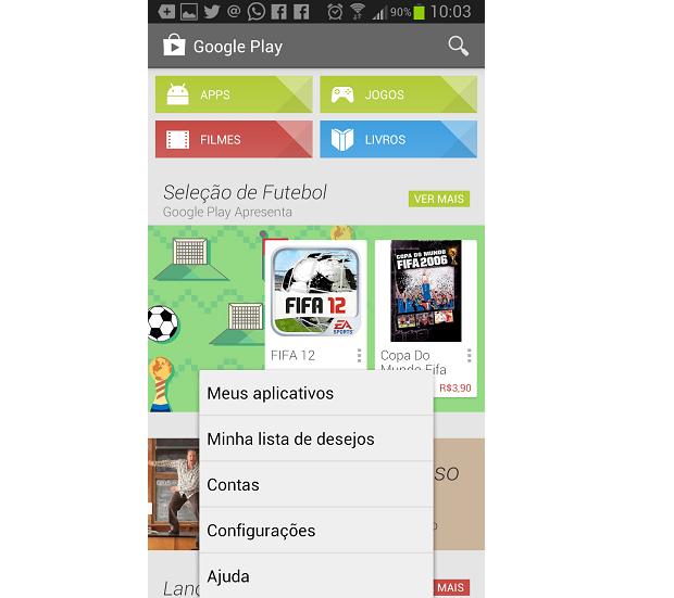 Loja virtual do Google oferece opção de desinstalar apps (Foto: Reprodução Thiago Barros)