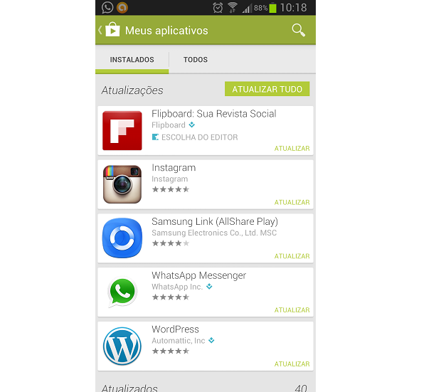 Selecione aqui o app que você quer desinstalar (Foto: Reprodução Thiago Barros)