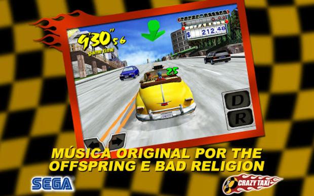Crazy Taxi para Android é a conversão perfeita da versão do Dreamcast (Foto: Divulgação) (Foto: Crazy Taxi para Android é a conversão perfeita da versão do Dreamcast (Foto: Divulgação))