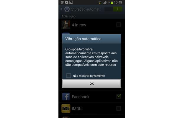 Um aviso sobre os problemas com a compatibilidade de certos apps irá aparecer (Foto: Reprodução/ Daniel Ribeiro)