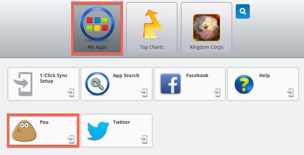 Acessando aplicativos instalados (Foto: Reprodução/Helito Bijora)