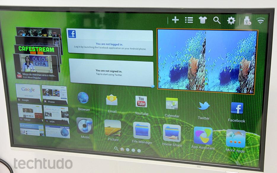 Protótipo da Google TV de 47 polegadas Dual-Core da Philco (Foto: TechTudo / Rodrigo Bastos)