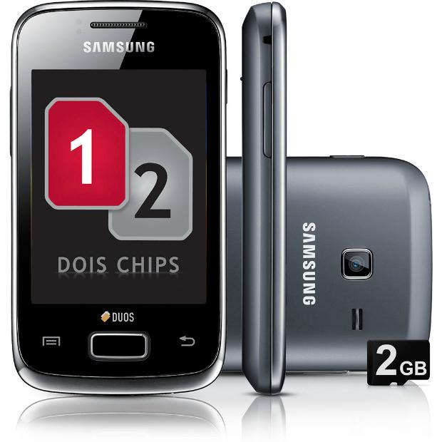Galaxy Y Duos tem tela sensível ao toque e capacidade para dois chips (Foto: Divulgação)