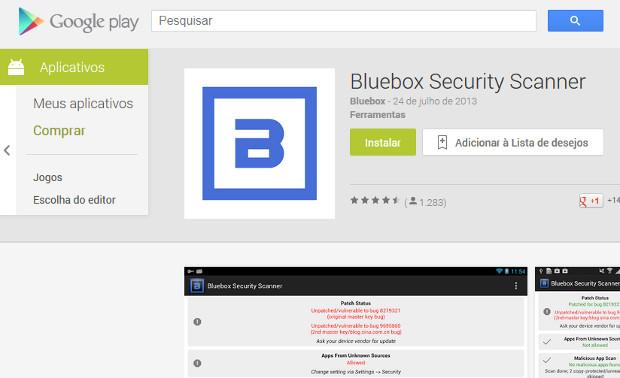 O primeiro passo é instalar o scanner de segurança Bluebox (Foto: Reprodução / Dario Coutinho)