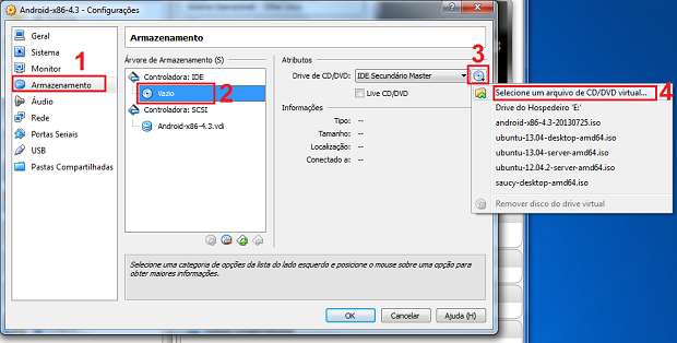 Colocando a imagem ISO como CD/DVD virtual (Foto: Reprodução/Edivaldo Brito)