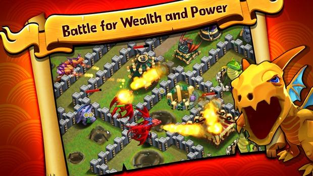 Defenda seu reino e lute contra dragões em Battle Dragons (Foto: Divulgação)