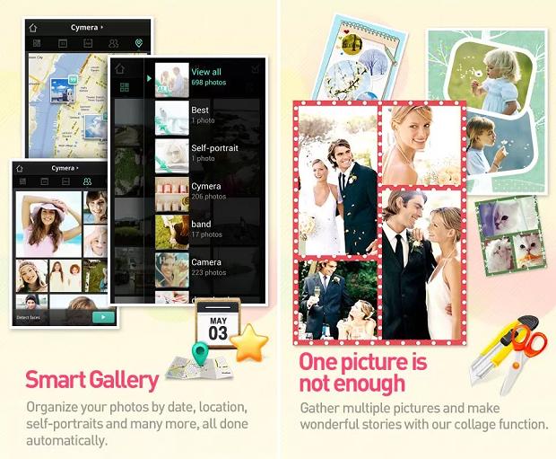 Cymera é um app de imagens recheado de opções (Foto: Divulgação)