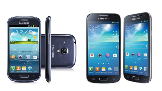 Galaxy S3 mini e S4 mini são as duas versões reduzida dos tops da Samsung (Foto: Arte/Divulgação)