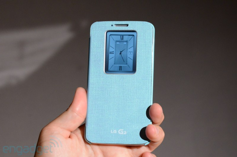 LG G2 também possui uma capa aberta, semelhante ao Galaxy S4 (Foto: Reprodução/Engadget)