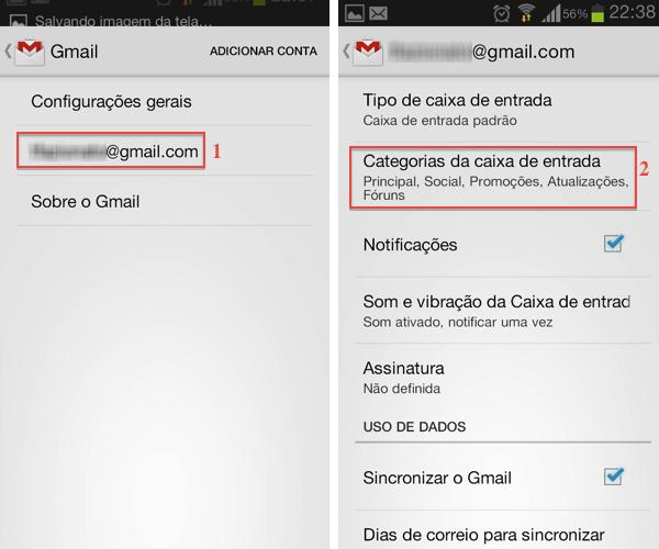 Acesse as configurações das categorias do Gmail (Foto: Reprodução/Thiago Bittencourt)