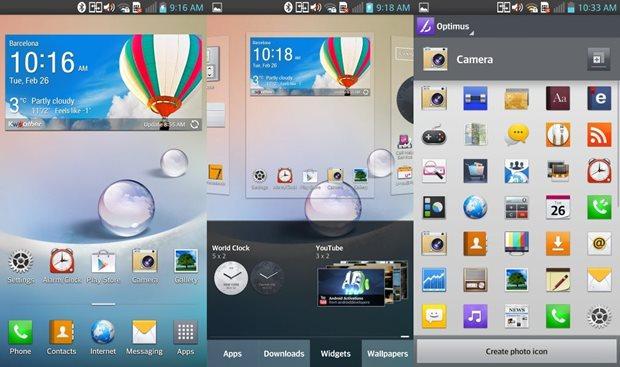 Optimus UI, a interface gráfica da LG para o Android (Foto: Gsmarena)