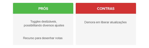 Prós e contras do Android personalizado pela LG (Foto: Arte/TechTudo)