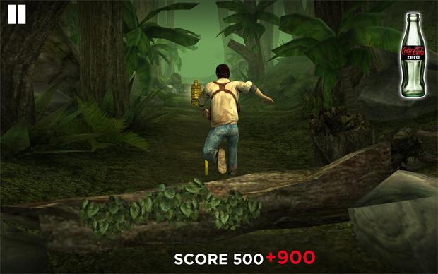 Uncharted é um dos minigames no jogo de iOS e Android (Foto: Divulgação)
