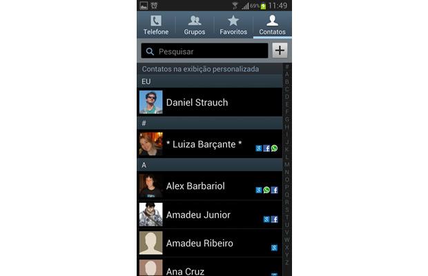 Os contatos da rede social que não estiverem associados a telefones e e-mails deixarão de aparecer em sua agenda (Foto: Reprodução/ Daniel Ribeiro)