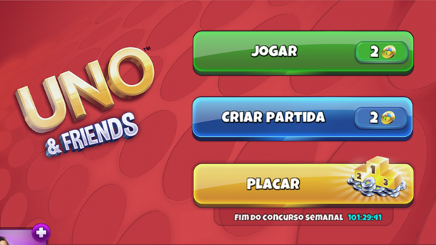 Menu inicial de Uno & Friends. (Foto: Reprodução)