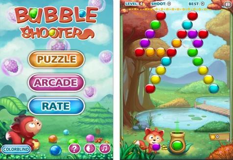 Bubble Shooter possui dois modos de jogo (Foto: Divulgação)
