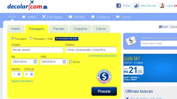 Decolar.com é um dos sites do gênero mais acessados do Brasil (Foto   Reprodução Henrique Duarte) 2afa7f3e867b4