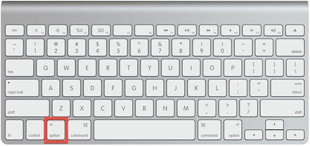 Mantenha a tecla em destaque pressionada durante a inicialização do Mac (Foto: Reprodução/Helito Bijora)