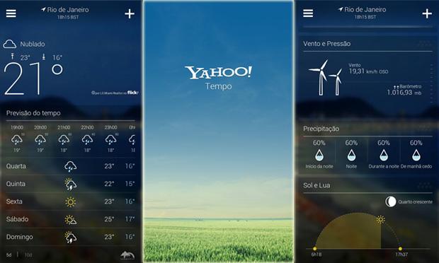 Yahoo! Tempo: novo app do Android tem o mesmo visual do serviço no iOS 7 (Foto: Arte / TechTudo)