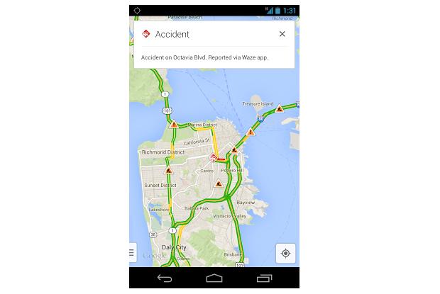 Alertas do Waze agora aparecem no Maps (Foto: Divulgação)