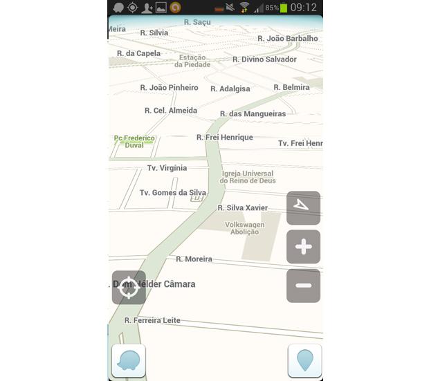 Volte à tela inicial do app e comece a navegar! (Foto: Reprodução/Aline Jesus)