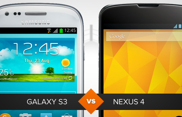 Comparativo entre galaxy s3 e nexus 4 (Foto: Arte/TechTudo)