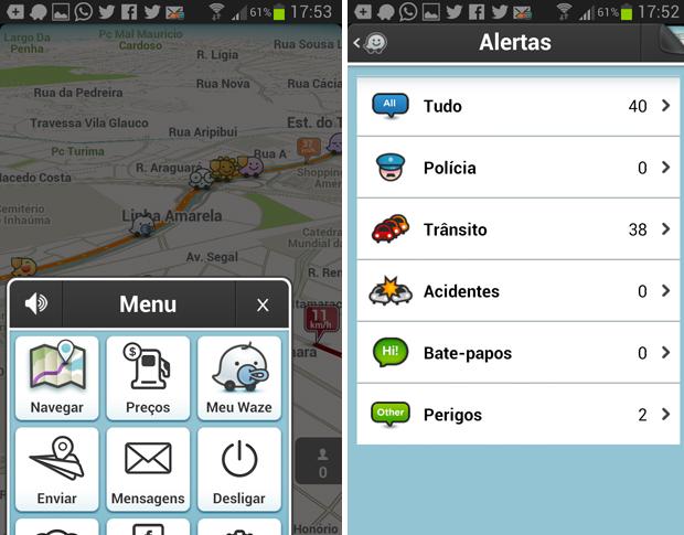 Waze oferece mais opções sociais (Foto: Reprodução/Thiago Barros)