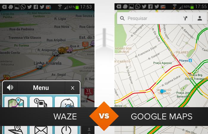 comparativo waze google maps (Foto: Arte/TechTudo)