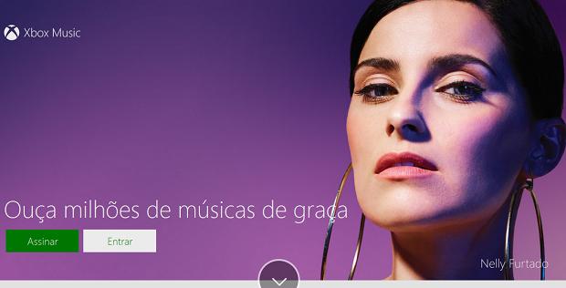 Xbox Music está disponível na web (Foto: Reprodução/Thiago Barros)