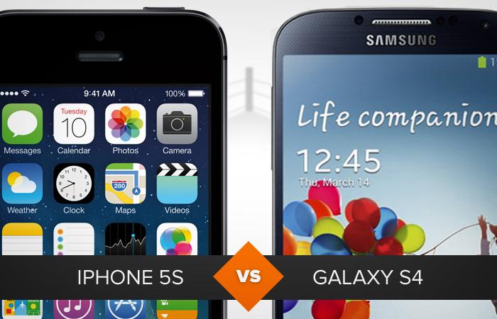 iPhone 5S, com iOS 7, ou Galaxy S4, com Android Jelly Bean: qual é o melhor? (Foto: Arte/Divulgação)