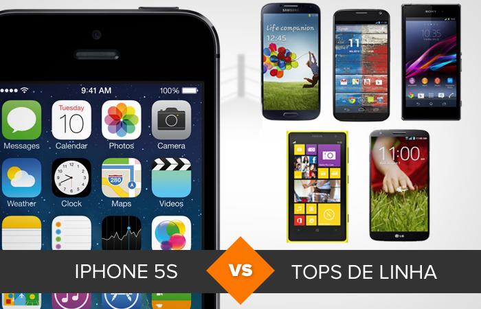iPhone 5S chega para disputar com Galaxy S4, Lumia 1020, Xperia Z1, G2 e Moto X (Foto: Divulgação)