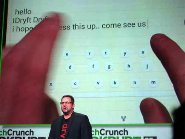 Randy Marsden apresente o Dryft durante a TechCrunch 2013 (Foto: Reprodução)