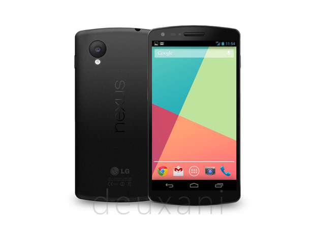Modelo 3D do Nexus 5 é baseado em imagens e especificações vazadas (Foto: Reprodução/Verge)