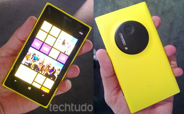 Nokia Lumia 1020, lançado em julho (Foto:  Allan Melo/TechTudo)