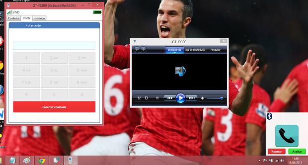 Assim fica a tela do PC quando recebe uma chamada (Foto: Reprodução/Thiago Barros)