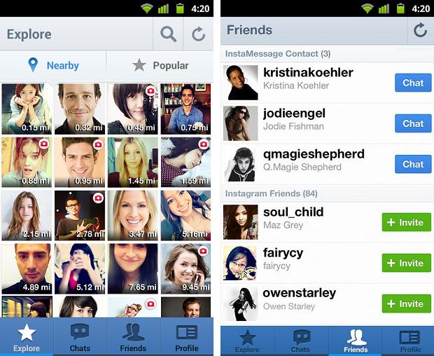 InstaMessage é um aplicativo para bater papos com usuários do Instagram (Foto: Reprodução)