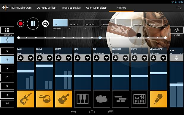 Music Maker Jam é um aplicativo de criação de músicas (Foto: Reprodução)