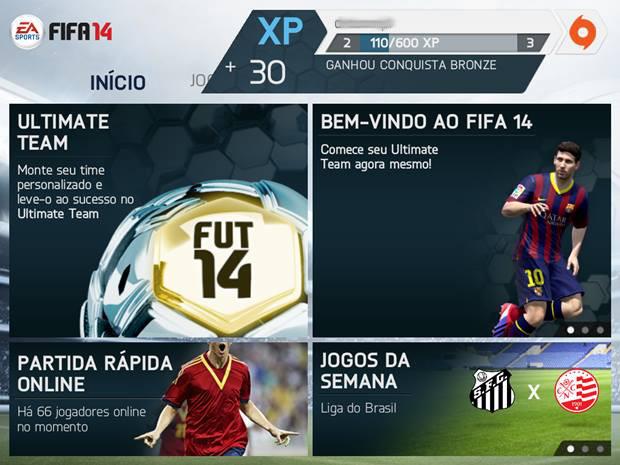 FIFA 14 para smartphones é gratuito para baixar e jogar  (Foto: Reprodução / Dario Coutinho)