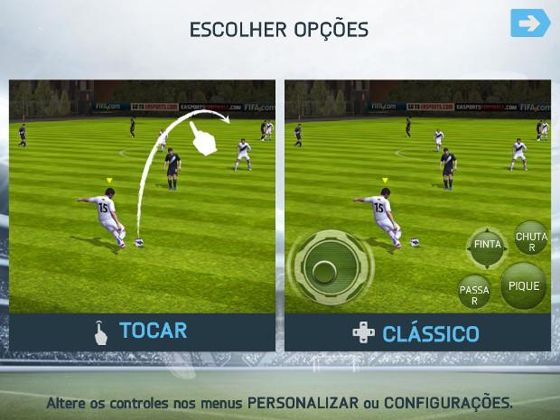 FIFA 14 para smartphones tem duas opções de controles (Foto: Reprodução / Dario Coutinho)