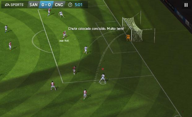Comandos por gestos podem ser usados para controlar os jogadores e chutar (Foto: Reprodução / Dario Coutinho)