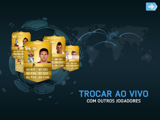 Modo Ultimate Team permite colecionar e trocar jogadores famosos (Foto: Reprodução / Dario Coutinho)